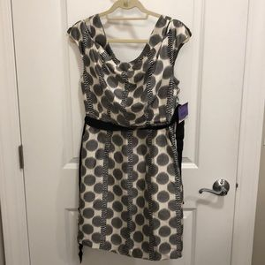 Black white and gray cocktail dress